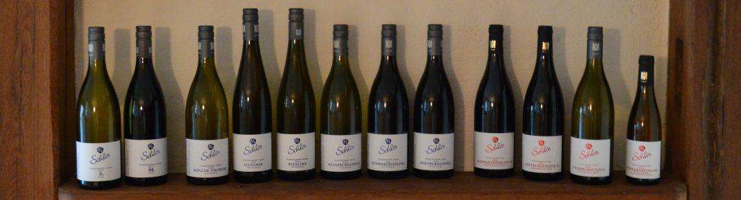 Weinsortiment des Weingut Schlör