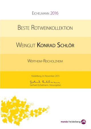 Auszeichnung Weingut des Jahres von Eichelmann